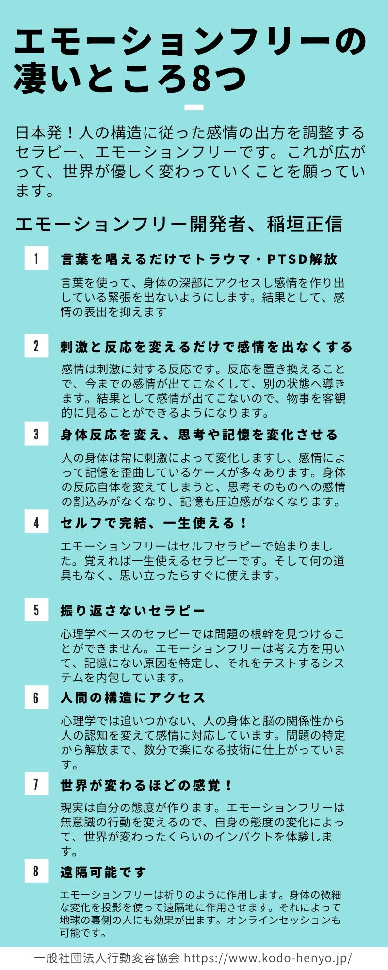 エモーションフリーの8つのポイント